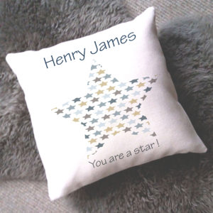 star baby boy cushion