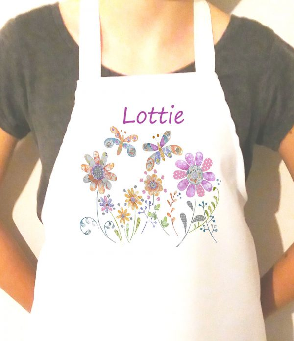 girls personalised apron. Ideal birthday gift