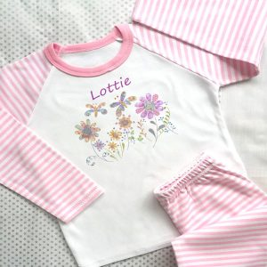 girls personalised pyjamas for gift