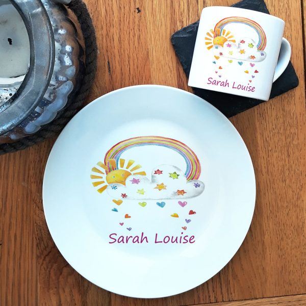 personalised plate and cup