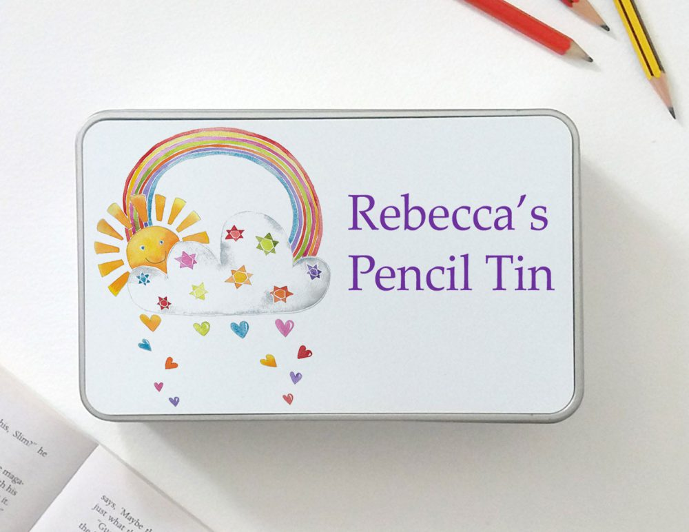 personalised pencil tin