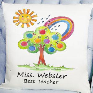 personalised teacher's cushion