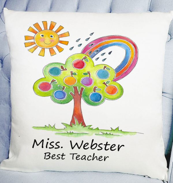 personalised teacher's cushion