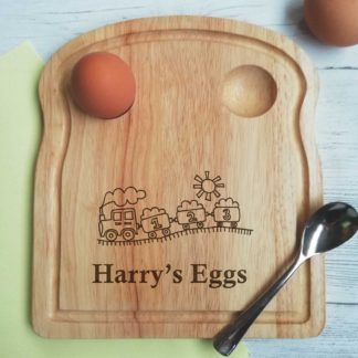 personalised train egg board