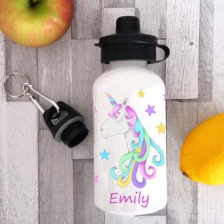 personalised unicorn water bottles