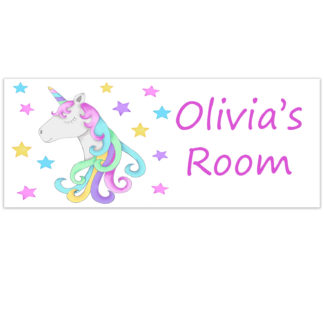 unicorn room plate