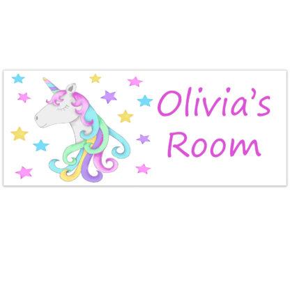unicorn room plate