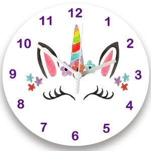 girls unicorn clock