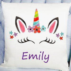 girls unicorn cushion