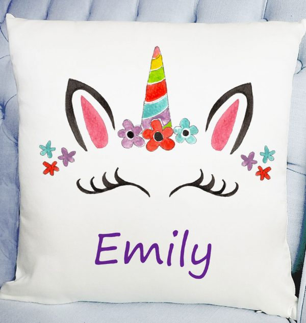 girls unicorn cushion