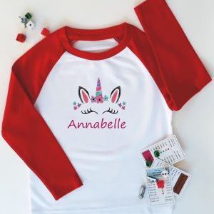 personalised unicorn tops