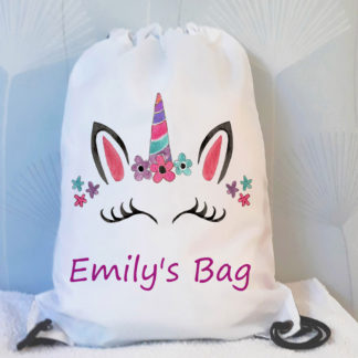 unicorn drawstring bag