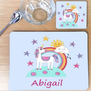 personalised children's table mats
