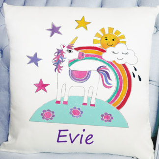 personalised girls cushion