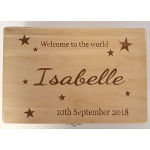 Wooden Engraved Keepsake Box