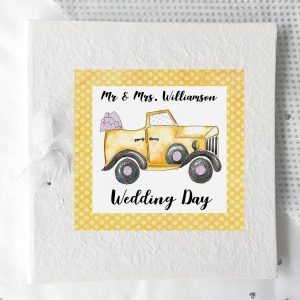 personalised wedding photo album gift