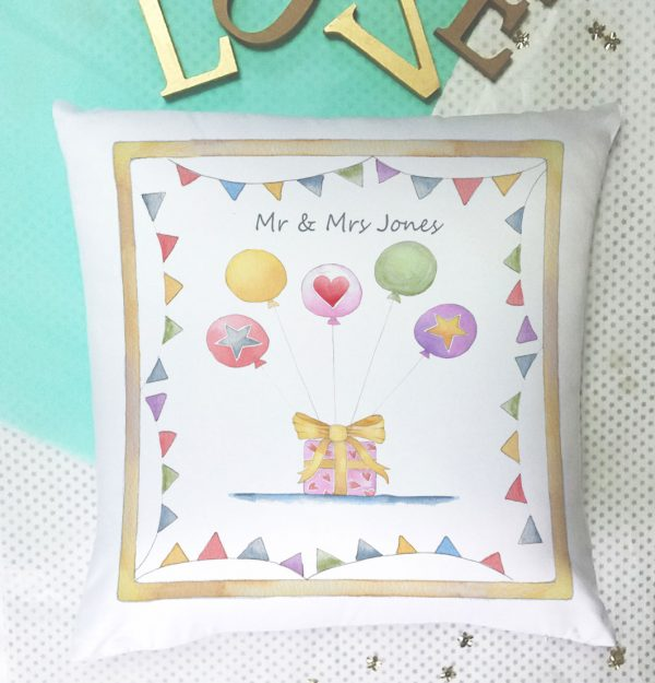 wedding personalised present cushion gift