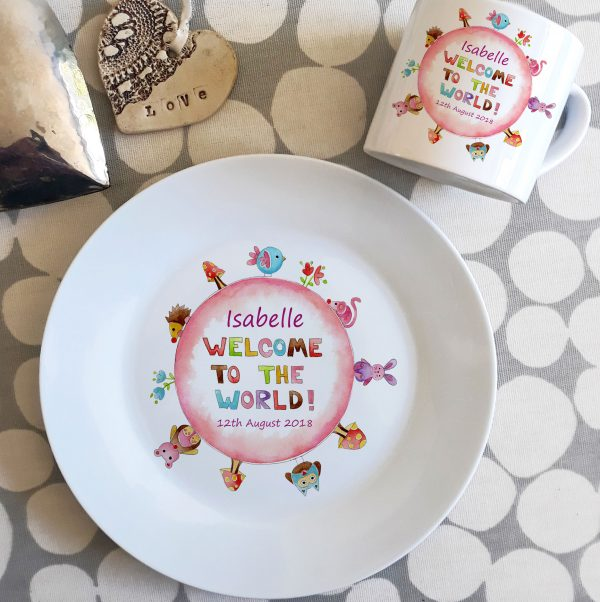 kids dinner plate and cup