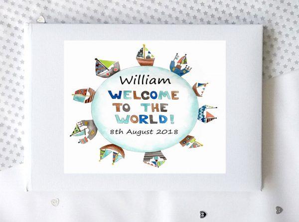baby boy guest book