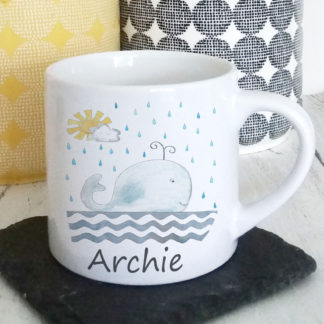 Whale Personalised Cups