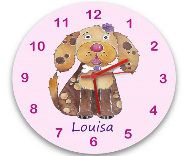 personalised dog clock
